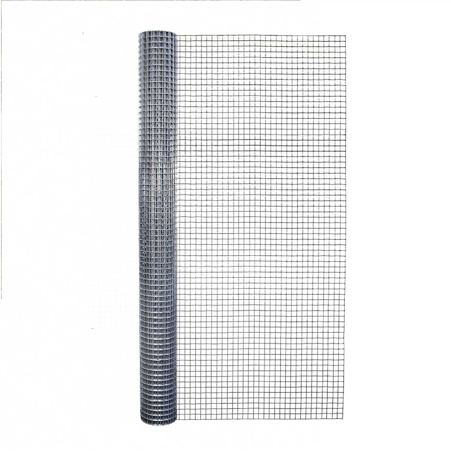 Garden Zone  36 in. W x 10 ft. L Silver Gray  Steel  Hardware Cloth  1/2 in.