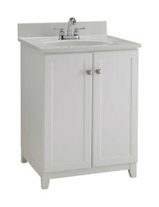 Design House  Shorewood  Single  Semi-Gloss  Vanity Cabinet  24 in. W x 21 in. D x 33 in. H