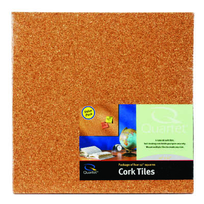 Quartet 12 in. W x 12 in. L Brown Cork Wall Tile 4 each
