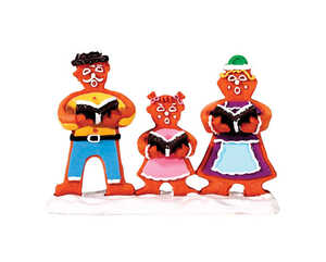 Lemax  Gingerbread Carolers  Porcelain Village Accessory  Resin  Multicolored  1 pk