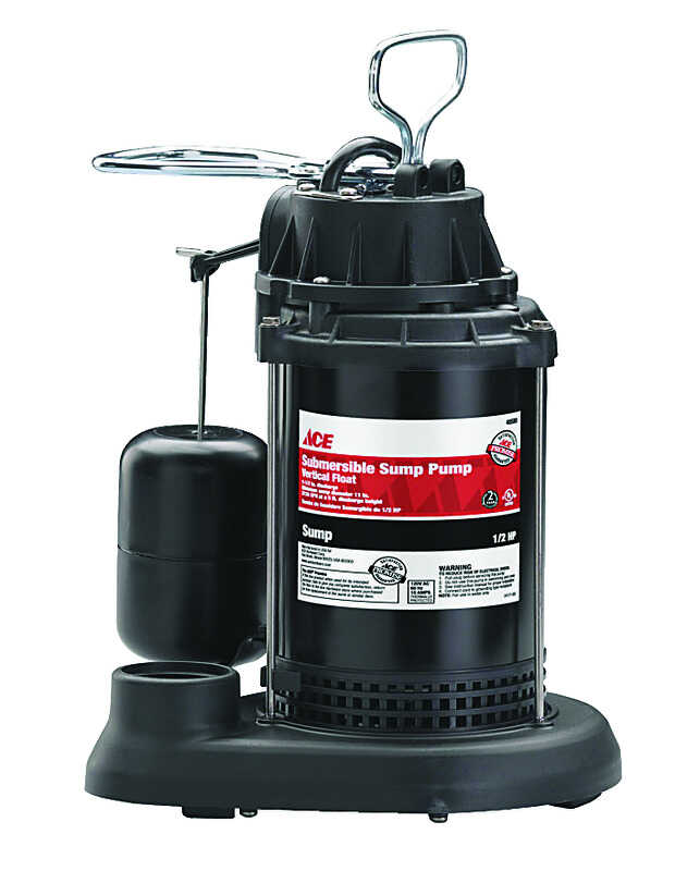 Ace  1/2 hp 3900 gph Plastic  Submersible Sump Pump