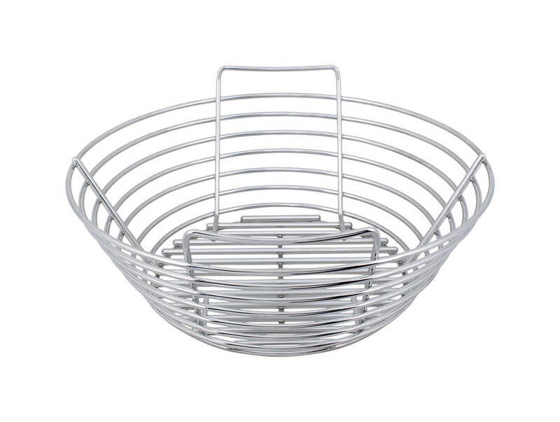 Kick Ash Basket  Stainless Steel  Charcoal Grate  5.75 in. H x 12 in. L x 12 in. W