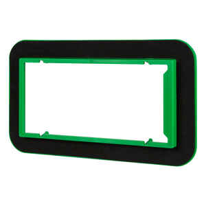 Madison Electric  Draft Seal  Rectangle  4 Gang  Draft Seal Kit  Black/Green  PVC