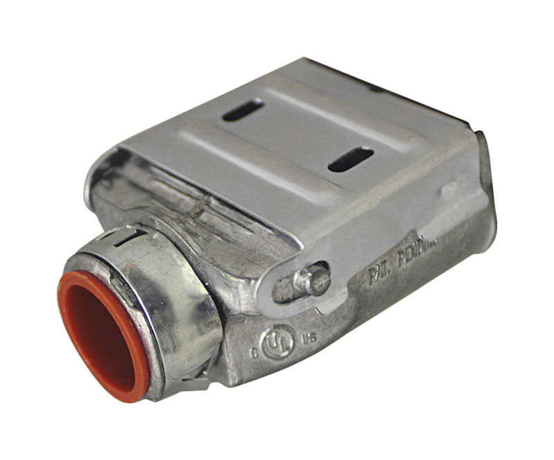 Sigma Electric ProConnex  Double Snap Lock  3/8 in. Dia. Die-Cast Zinc  Duplex Connector  For AC, MC