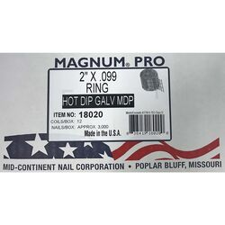 Magnum Pro 2 in. Angled Coil Nails 15 deg. Ring Shank 3000 pk
