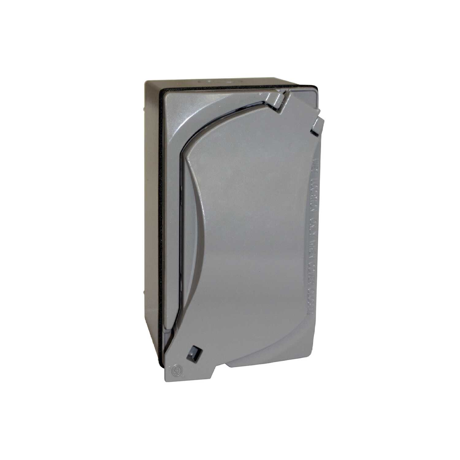 Sigma  15 amps 125 volt Gray  Electrical Receptacle  1 pk