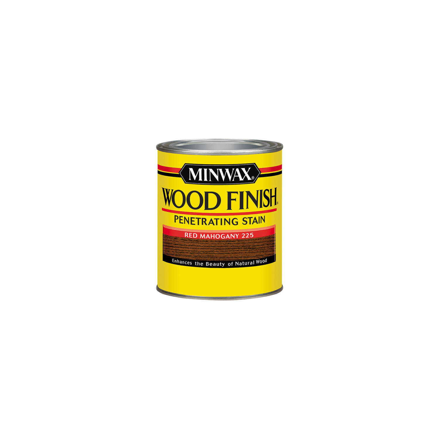 Minwax Wood Finish Semi-Transparent Red Mahogany Oil-Based Wood Stain 0.5 pt.