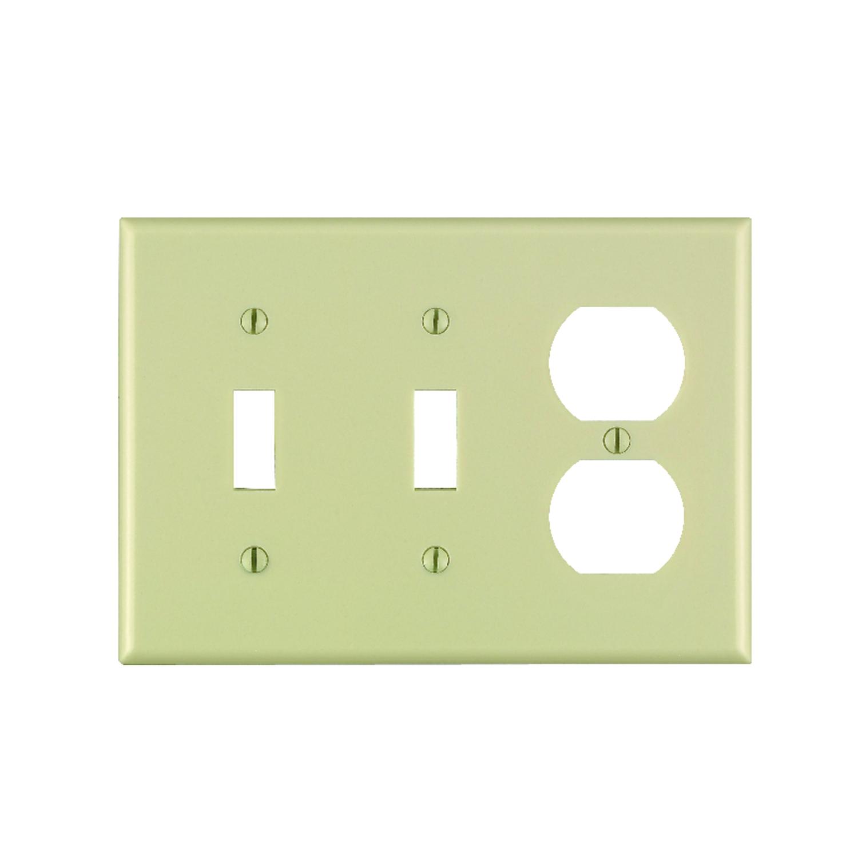 Leviton Ivory 3 gang Plastic Wall Plate 1 pk Duplex/Toggle - Ace ...
