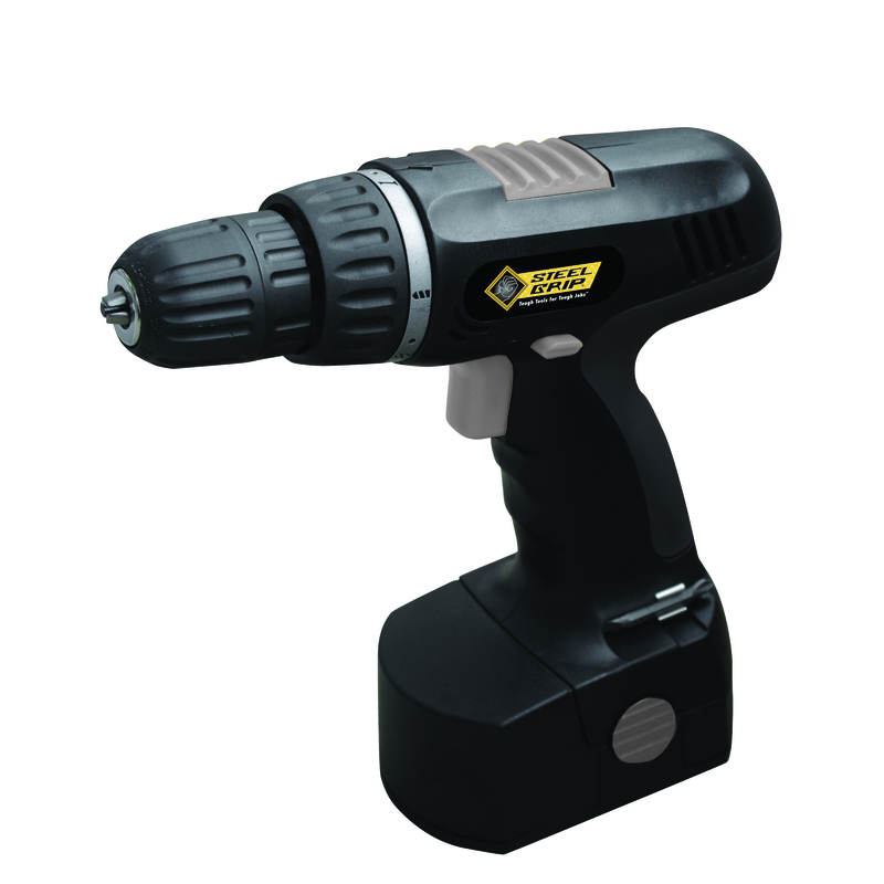 Steel Grip  18 volts 3/8 in. Cordless Drill  900 rpm 1