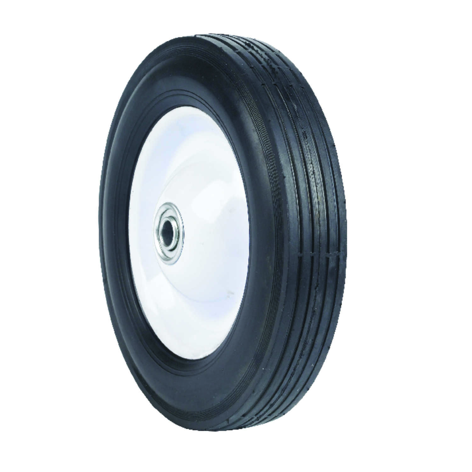 Arnold  8 in. Dia. x 1.75 in. W Lawn Mower Replacement Wheel  60 lb. Steel