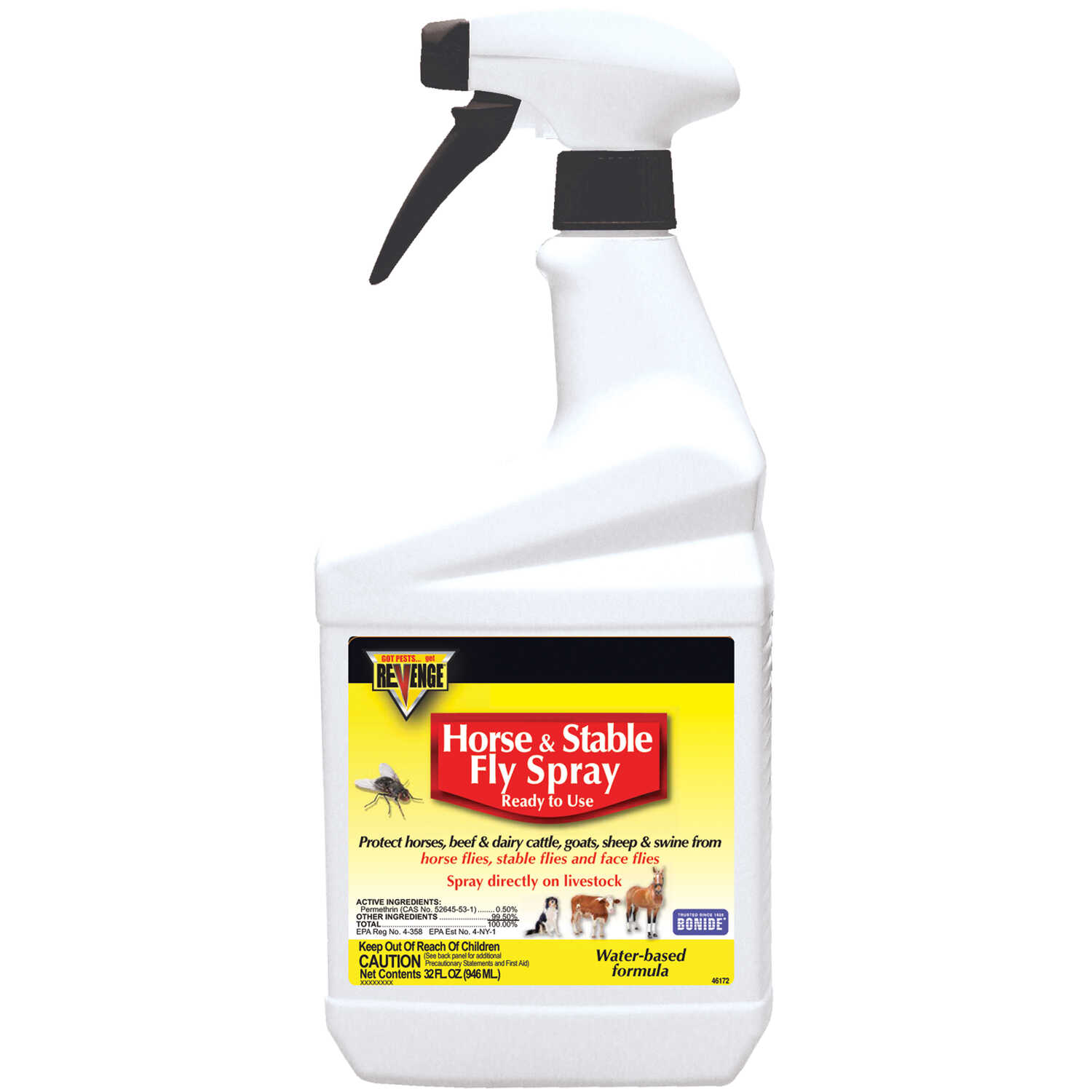 Bonide  Revenge Horse & Stable Fly Spray  Insect Killer  1 qt.
