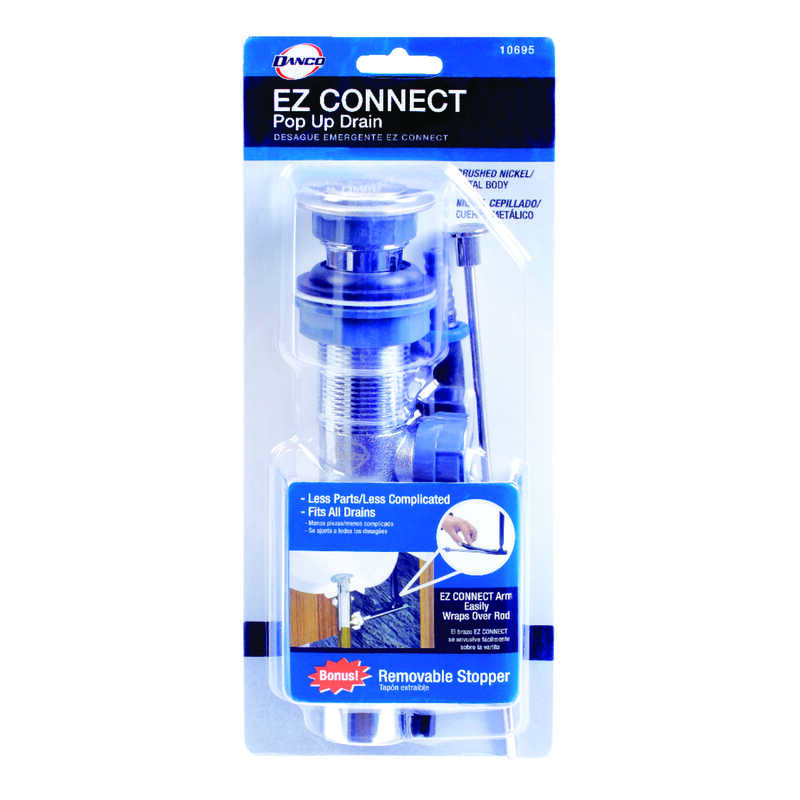 Danco  EZ Connect  1-1/4 in. Dia. Brass  Pop-Up Lavatory Drain