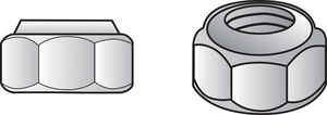 Hillman  8   8 in. Zinc-Plated  SAE  Nylon Lock Nut  100 pk Steel