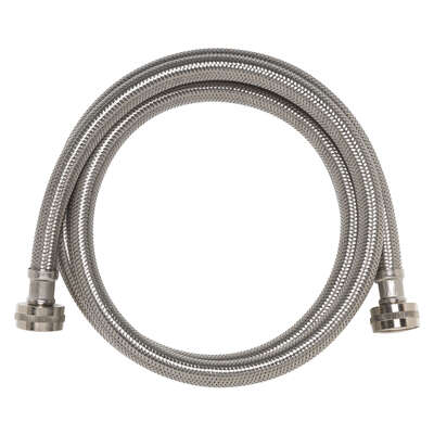 Ace  3/4 in. Hose Thread   x 3/4 in. Dia. Hose Thread  72 in. Stainless Steel  Supply Line