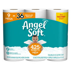 Angel Soft  Toilet Paper  9 roll 429 sheet