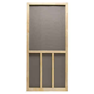 Precision  Aspen  80-1/2 in. H x 36 in. W Aspen  Natural Wood  Wood  Screen Door