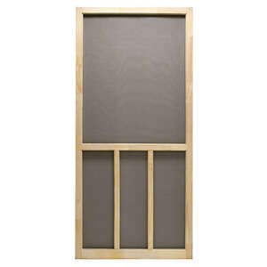 Superior  Aspen  80-1/2 in. H x 36 in. W Aspen  Natural Wood  Screen Door  Wood