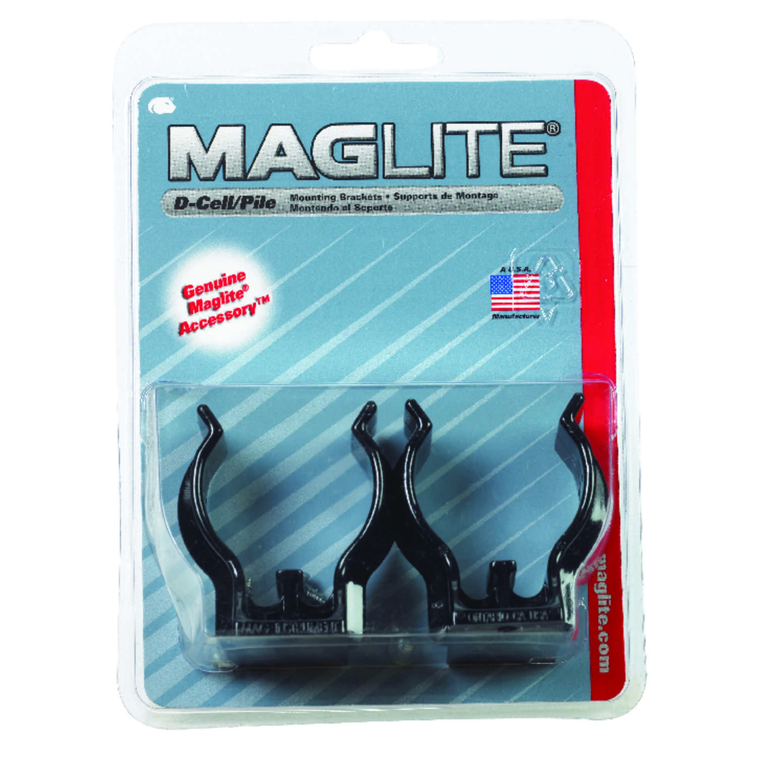 Maglite  D-Cell  Black  LED  Mounting Bracket