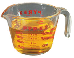 Pyrex 1 cups Glass Clear Measuring Cup