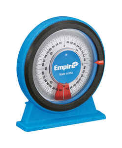Empire  POLYCAST  Magnetic  5 in. L x 4-1/4 in. W 360  Blue  1 pc. Protractor