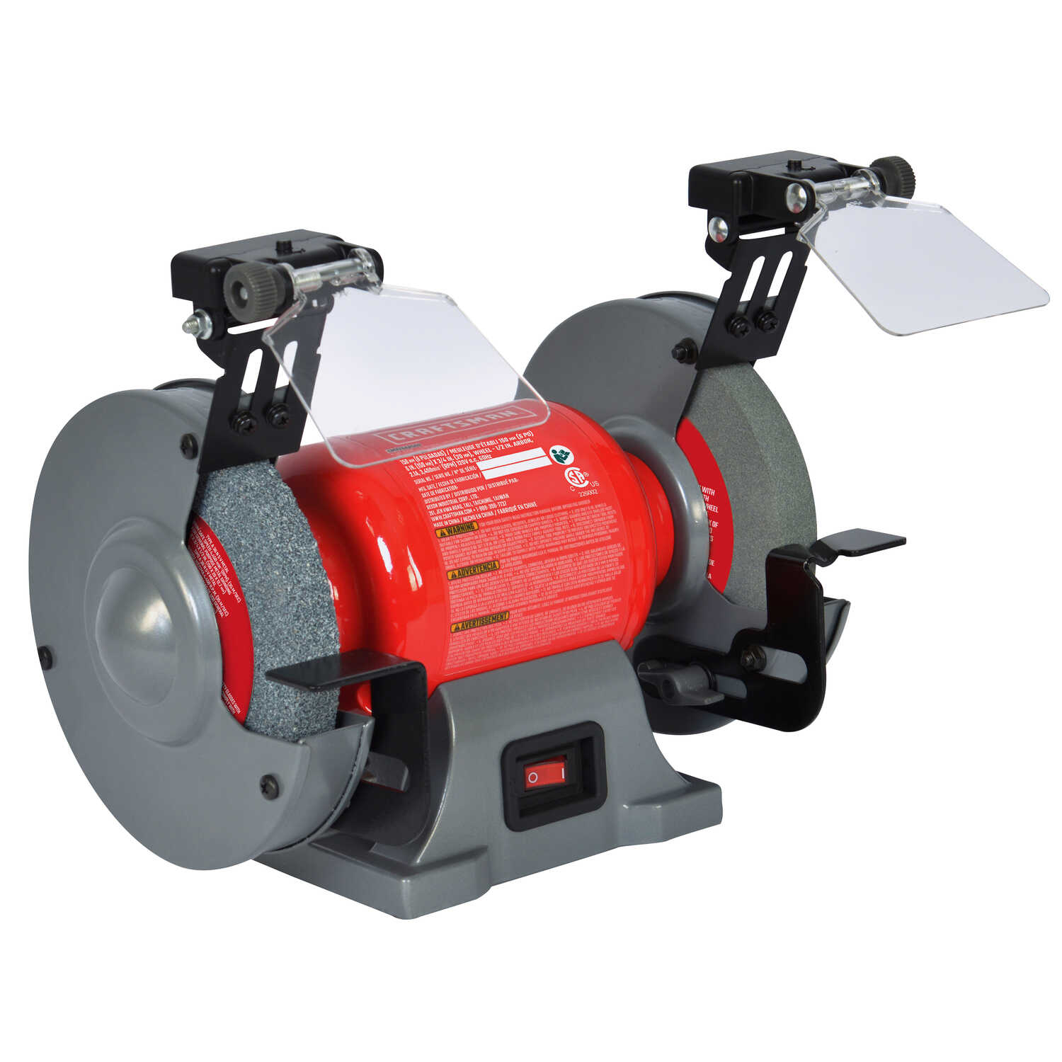Enjoyable Craftsman 6 In Bench Grinder With Lamp 2 1 Amps 3450 Rpm Ibusinesslaw Wood Chair Design Ideas Ibusinesslaworg