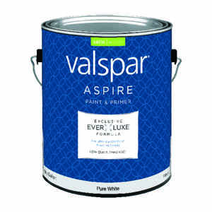 Valspar  Aspire  Satin  Tintable  Pure White Tint Base  Acrylic Latex  Paint and Primer  1 gal.