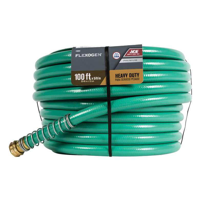 Ace  Flexogen  5/8 in. Dia. x 100 ft. L Premium Grade  Green  Hose