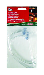 Adams  Safe Grip  Stocking Holder  Clear  Plastic  2 pk