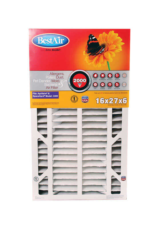 BestAir  27 in. W x 16 in. H x 6 in. D Pleated 11 MERV Furnace Filter