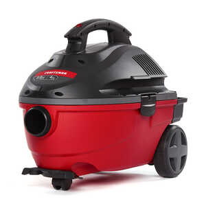 Craftsman  4 gal. Corded  Wet/Dry Vacuum  5 hp 120 volt Red  16.91 lb. 7.5 amps 1 pc.