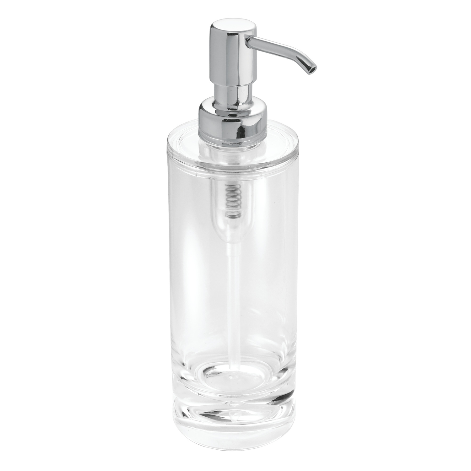 InterDesign  Eva Line  Lotion/Soap Dispenser  8 in. H x 2-1/2 in. L x 2-1/2 in. W Clear  Acrylic  Cl