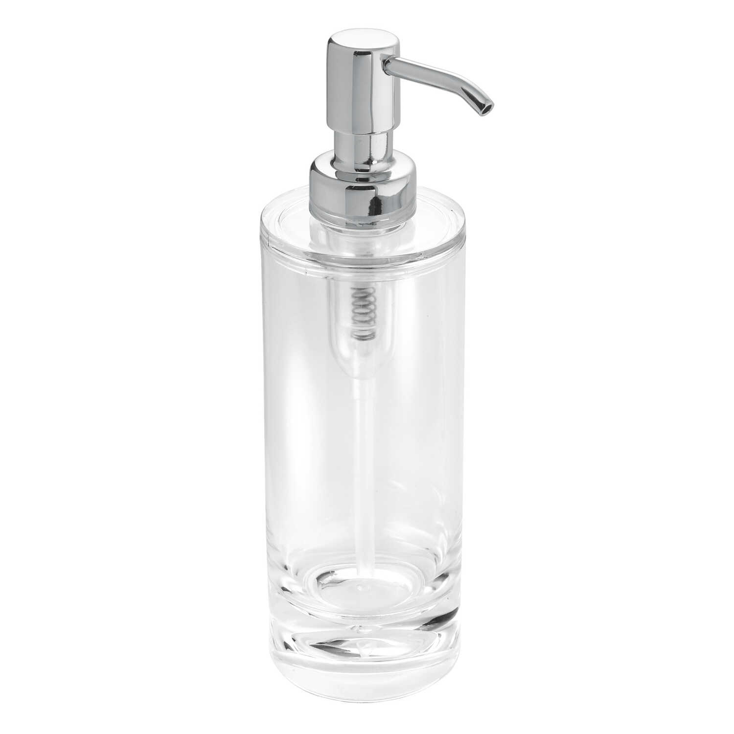 InterDesign  Eva Line  Lotion/Soap Dispenser  2-1/2 in. W x 2-1/2 in. L x 8 in. H Clear  Acrylic  Cl
