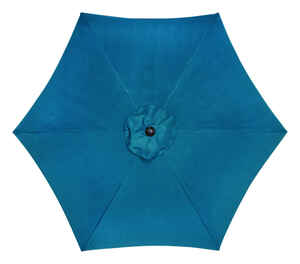 Living Accents  9 ft. Tiltable Ocean Blue  Market  Umbrella