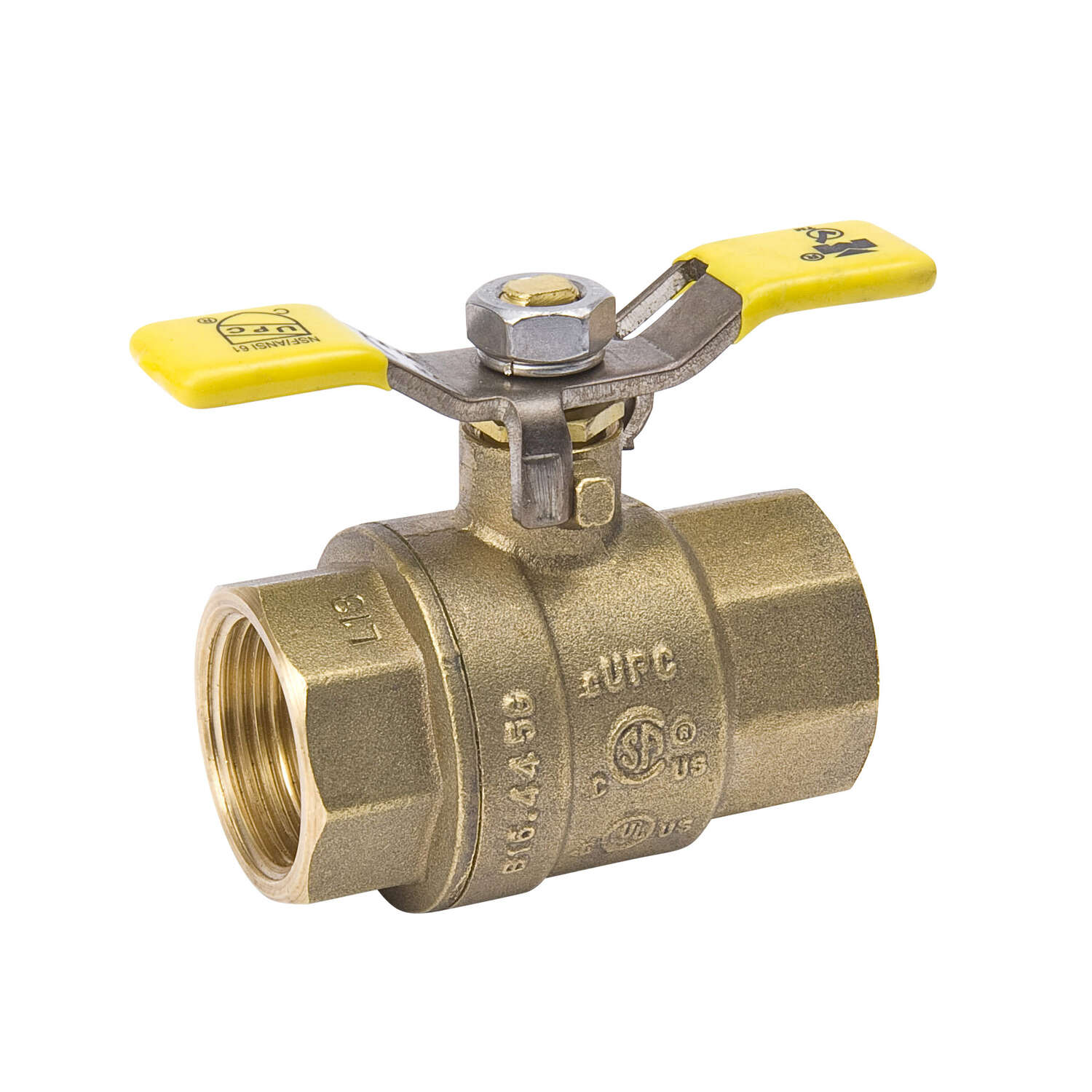 B&K  ProLine  1 in. Brass  Ball Valve  Full Port