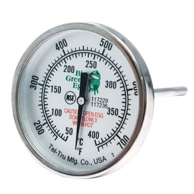 Big Green Egg  2 in  Analog  Grill Thermometer