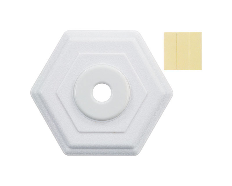 Ace  5 in. H x 5 in. L White  Rubber  Mounts to wall  Wall Door Stop
