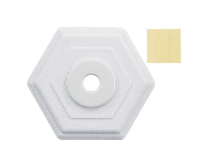 Ace  5 in. H x 5 in. L Rubber  White  Wall Door Stop  Mounts to wall