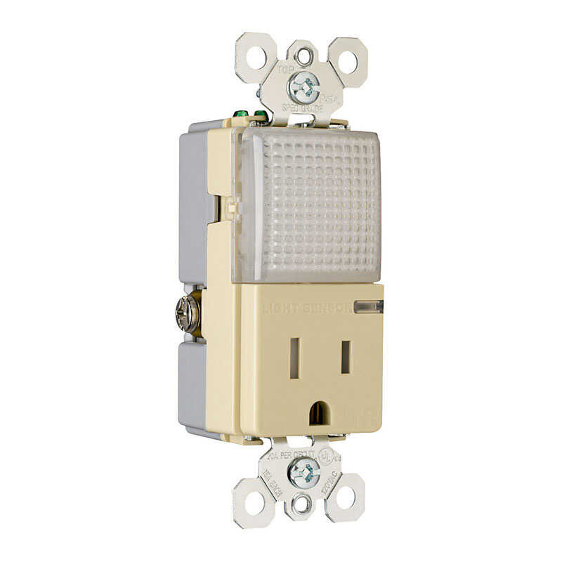 Pass & Seymour  15 amps 125 volts Ivory  Outlet  5-15R  1