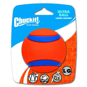 Chuckit!  Multicolored  Rubber  Ultra Ball  Large  Ultra Ball