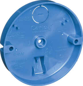 Carlon  Round  PVC  1 gang Ceiling Fan Pan  Blue  3/4 in.