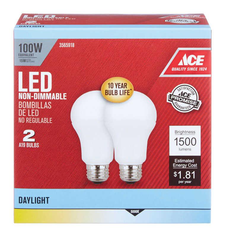 Feit Electric A19 E26 Medium Led Bulb Daylight 100 Watt