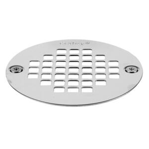 Oatey  3-3/8 in. Polished Chrome  Stainless Steel  Shower Drain Strainer