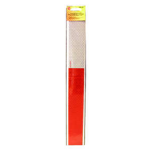 Peterson Reflective Strip Tape 0.06 in. x 2.63 in. x 19.13 in. 4-19 in. Red, White