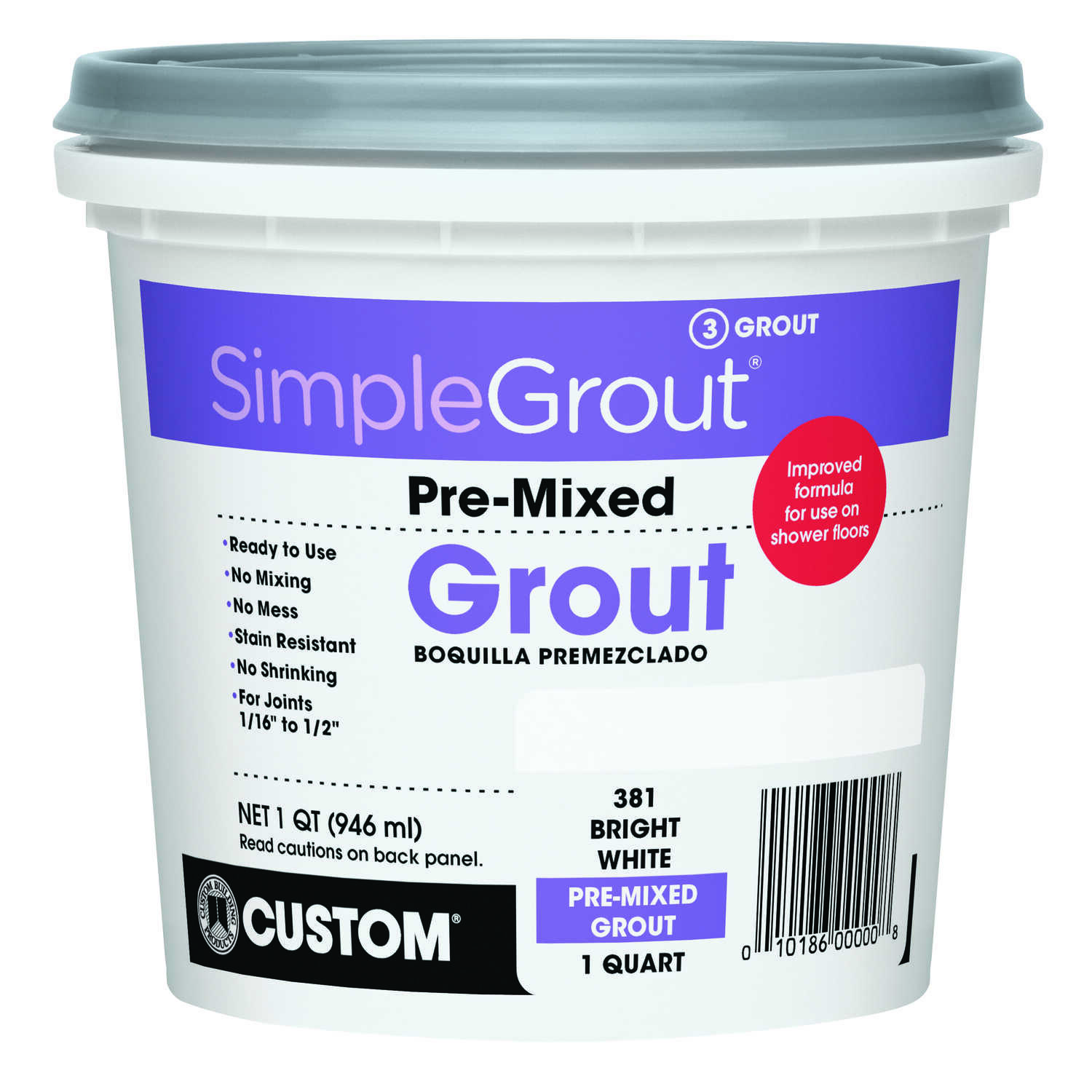 Custom Building Products  SimpleGrout  Indoor  White  Grout  1 qt.