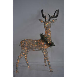 Celebrations  Standing Buck  LED Yard Art  White  1 pk Birch