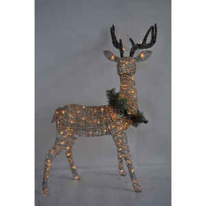 Celebrations  Standing Buck  LED Yard Art  White  1 each Birch