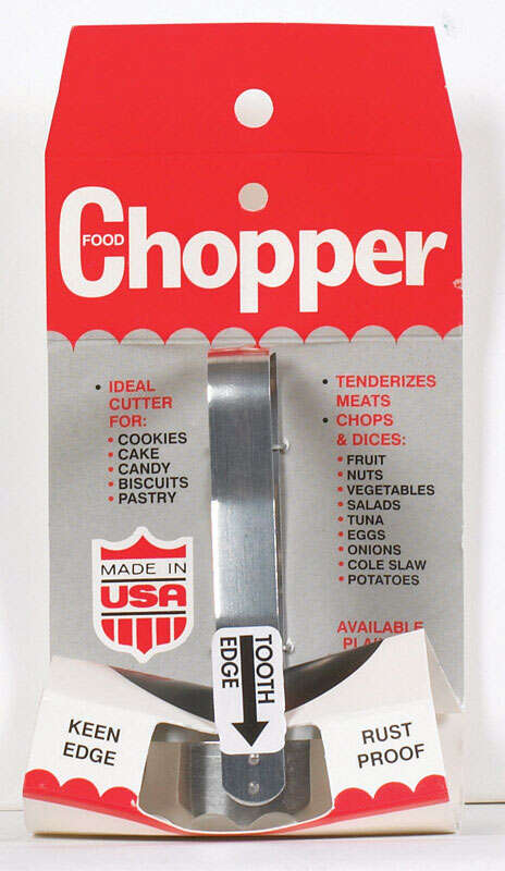 Harold's Kitchen 3 oz. Silver Stainless Steel Food Chopper
