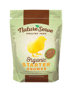 NatureServe  Organic  Grower/Starter Feed  Crumble  For Poultry 10 lb.