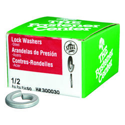 Hillman  1/2 in. Dia. Zinc-Plated  Steel  Split Lock Washer  50 pk