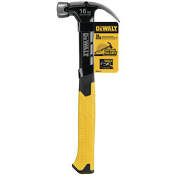 DeWalt  16 oz. Smooth Face  Curve  Claw Hammer  11-3/4 in. Steel Handle